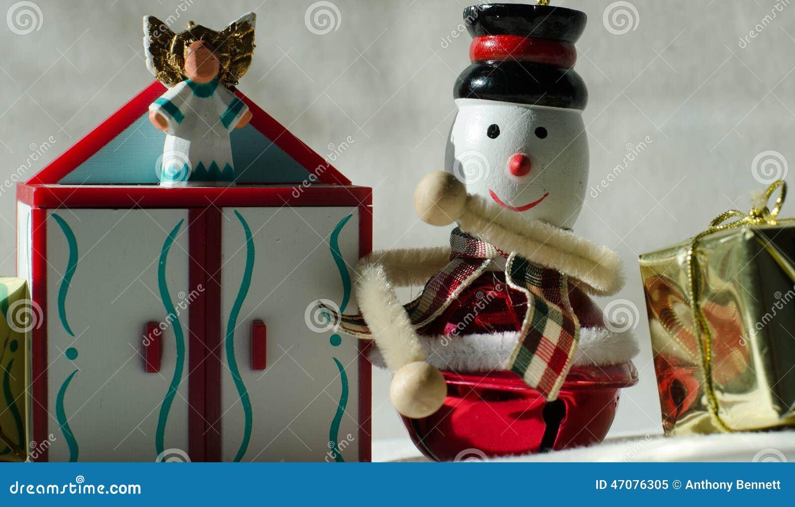 Little Angel Toys : Christmas decorations stock photo image