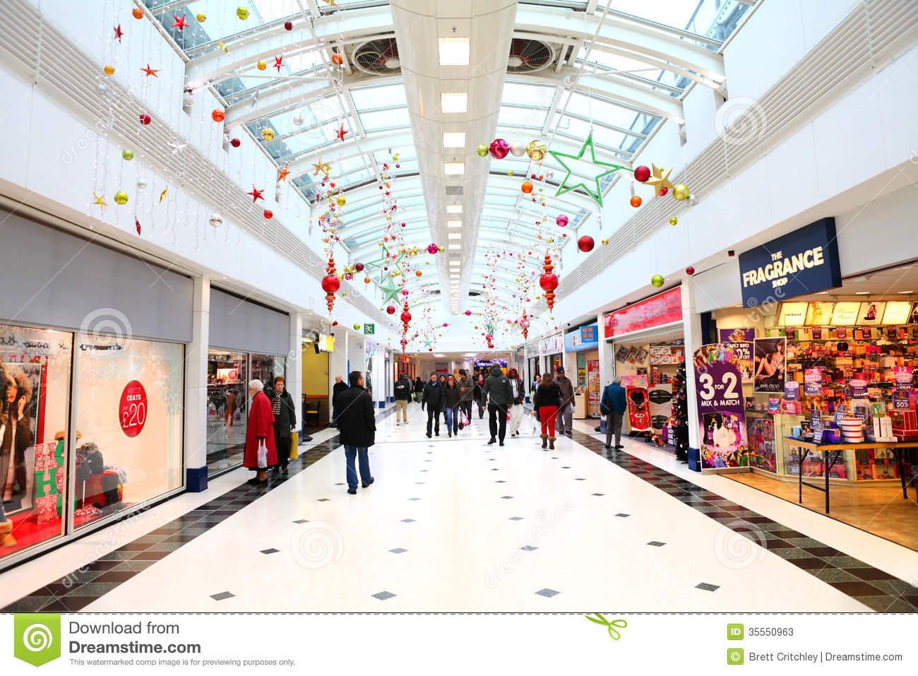 Christmas Decorations In Shopping Mall Editorial Stock