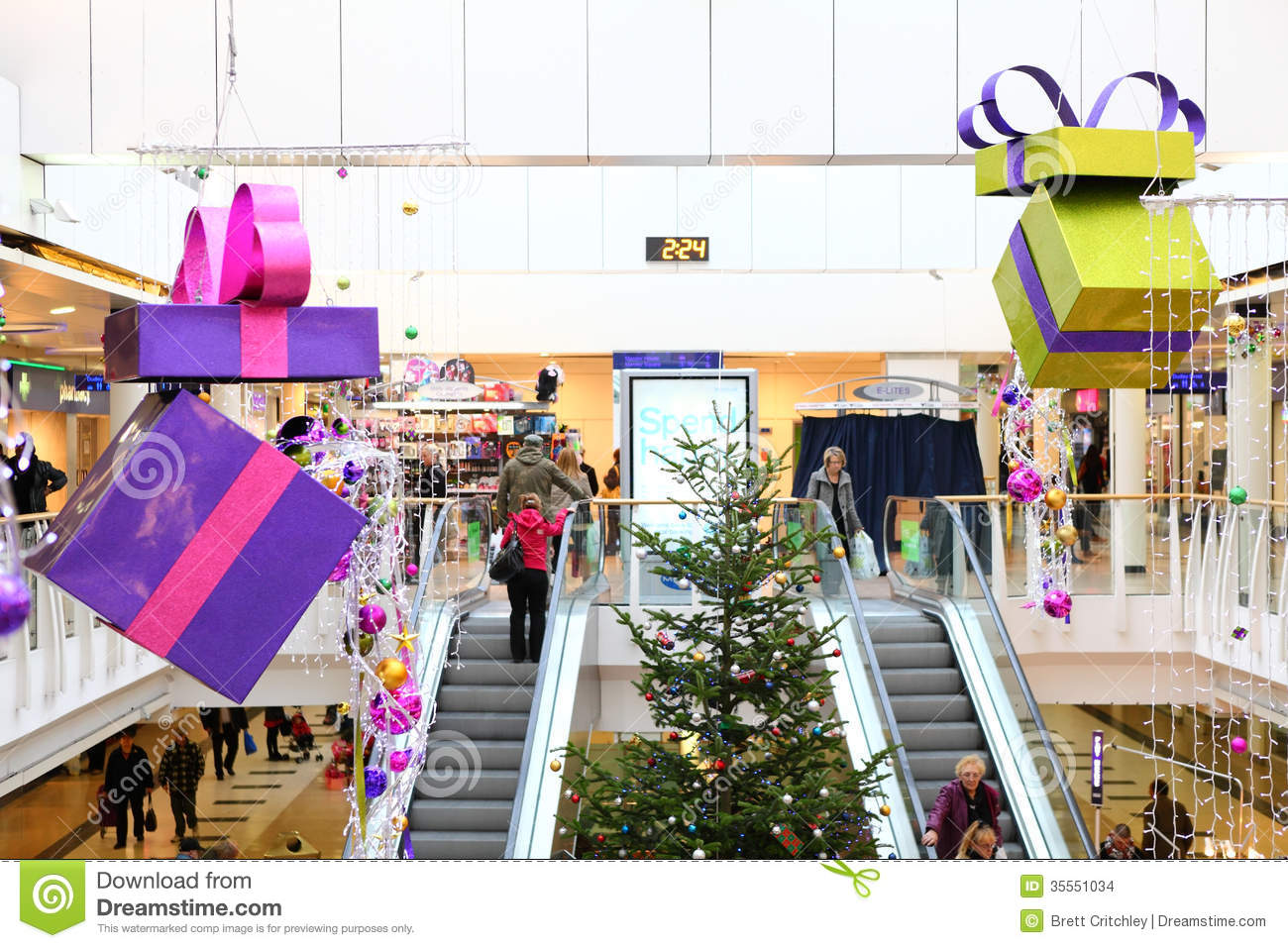 Christmas decorations in shopping mall editorial stock for Christmas decorations online shopping