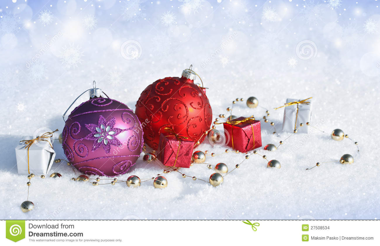 Decorating Ideas > Christmas Decorations In The Snow Stock Images  Image  ~ 135331_Christmas Decoration Ideas Snow