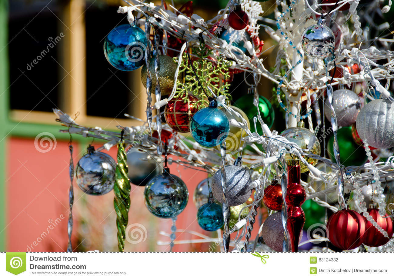 christmas decorations in spanish art village 4