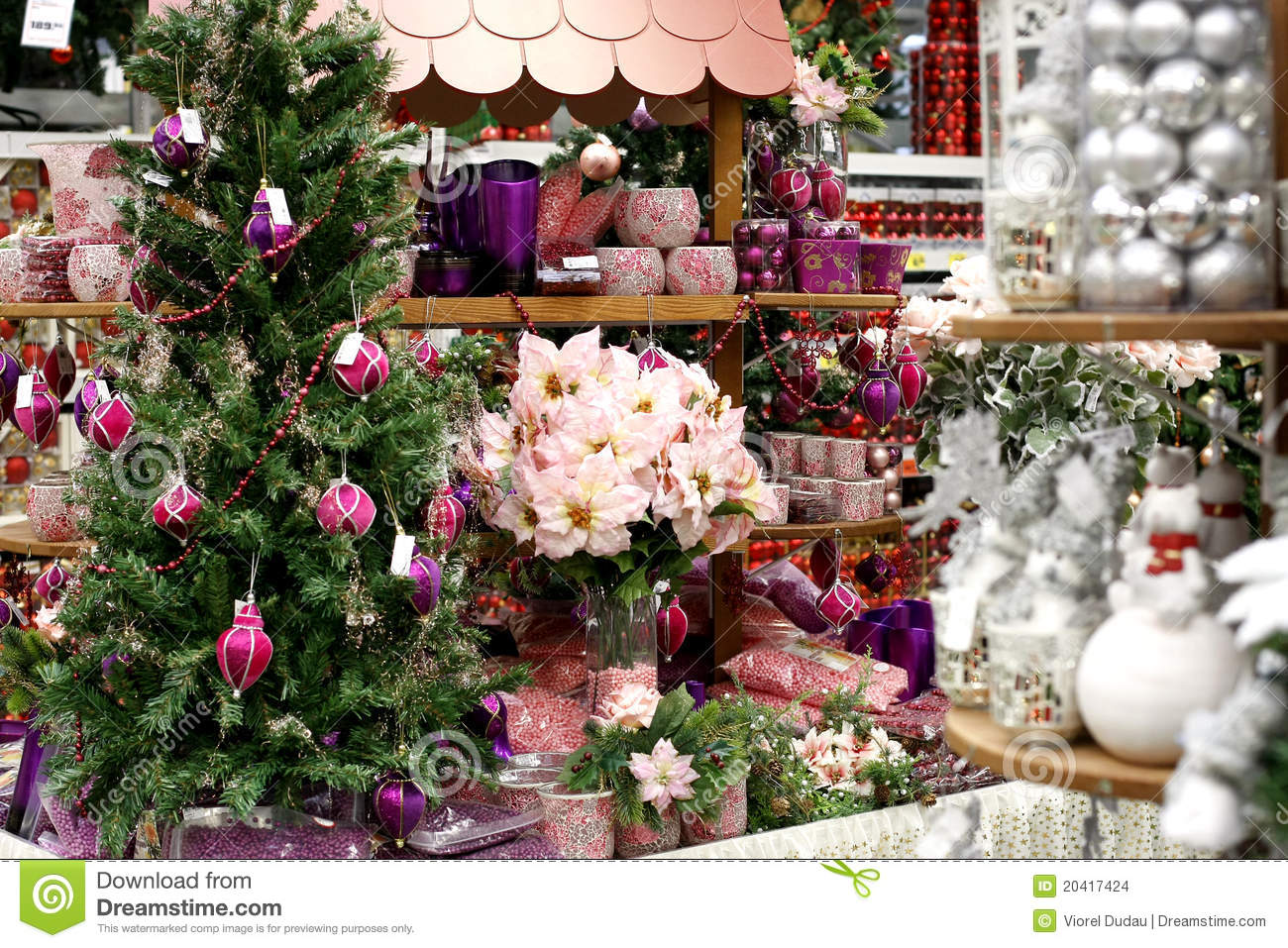 Christmas Decorations Store Stock Images Image 20417424