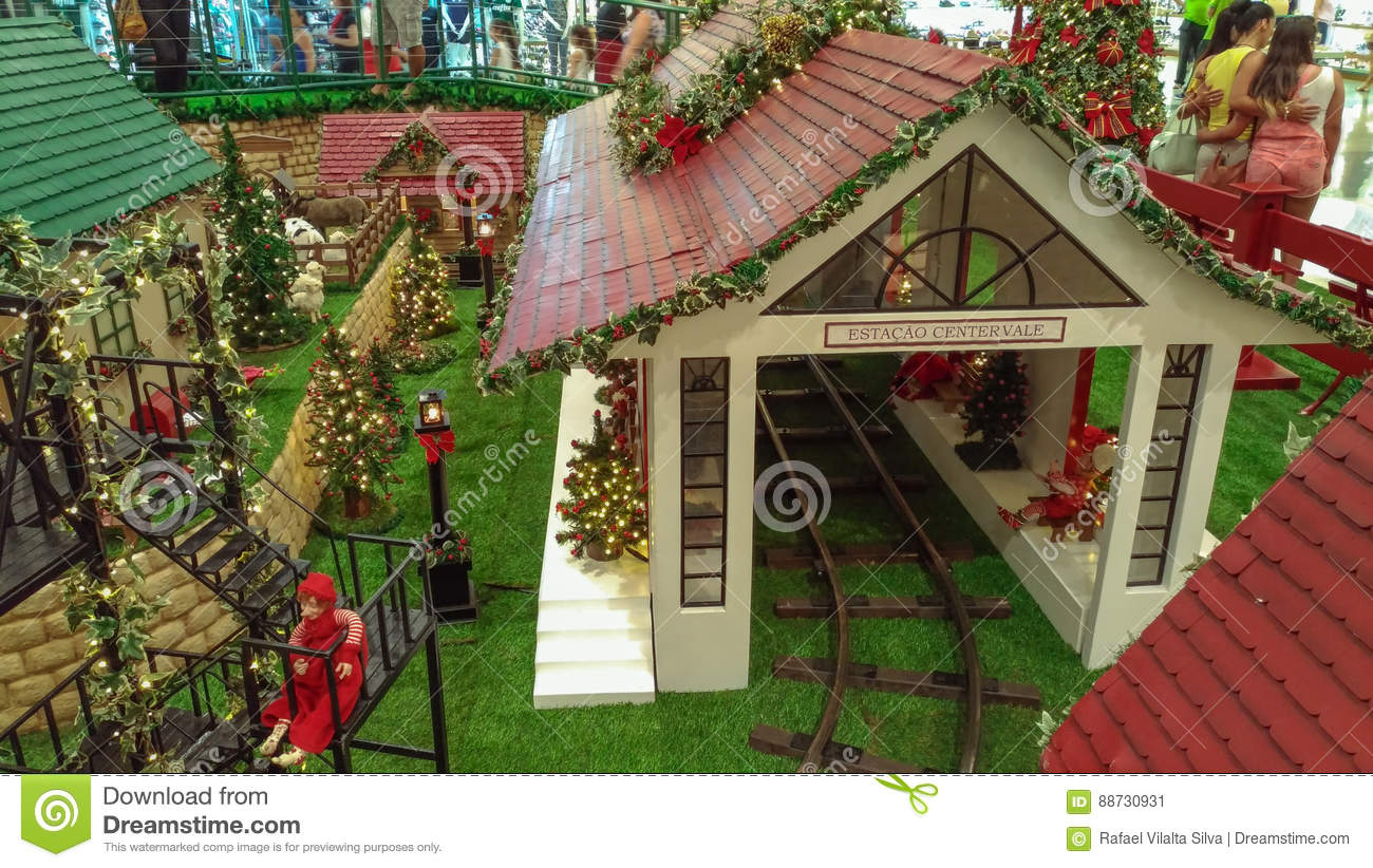 Christmas Dollhouse Decorations.Christmas Decorations Such As The Christmas Bell Editorial
