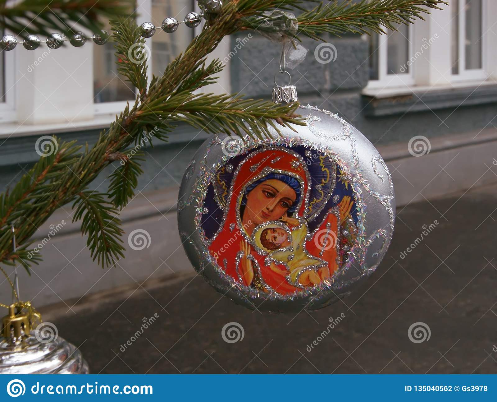 Christmas Decorations On The Tree Stock Photo - Image of ...
