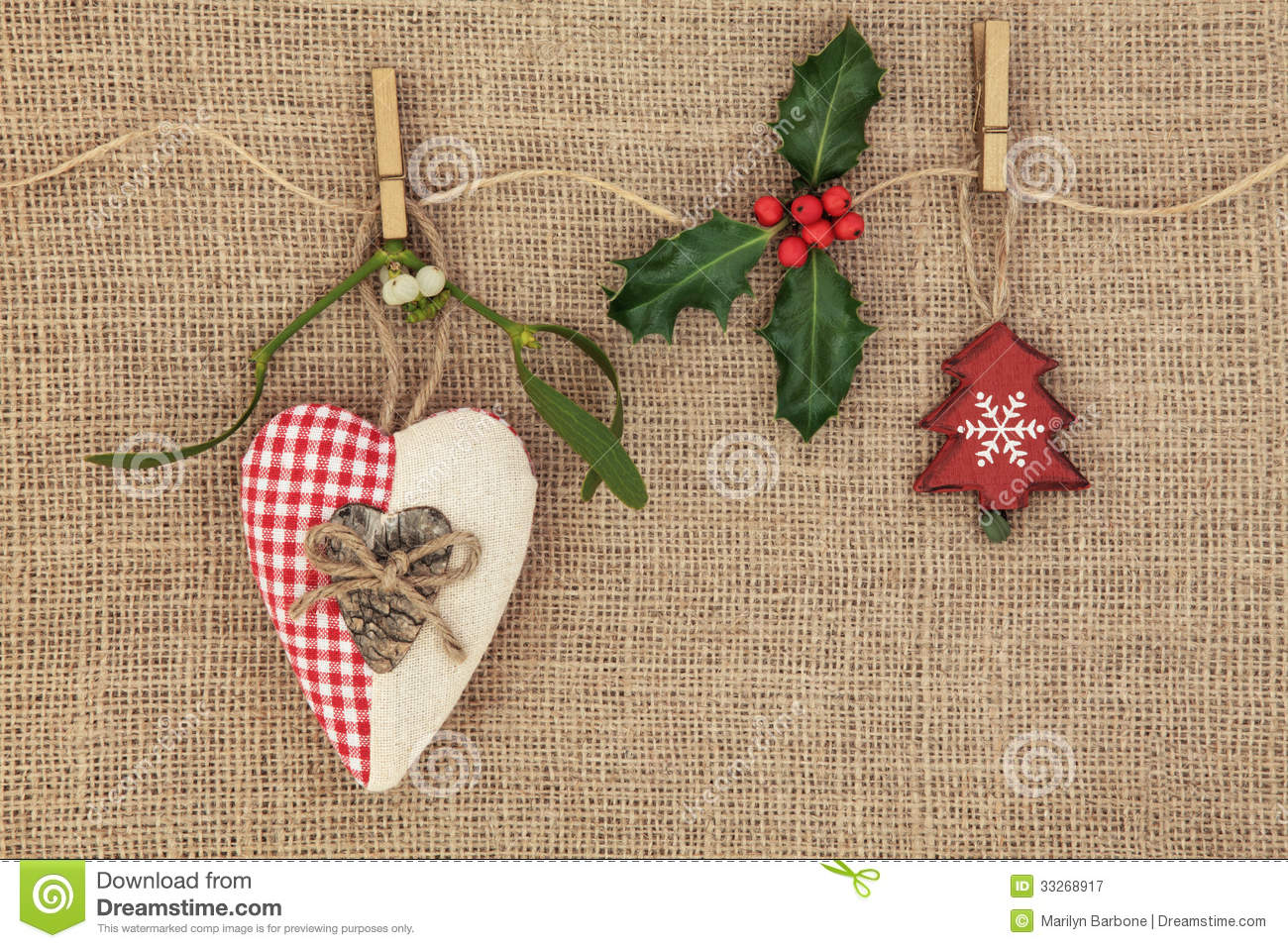 Christmas Decorations Stock Image. Image Of Card