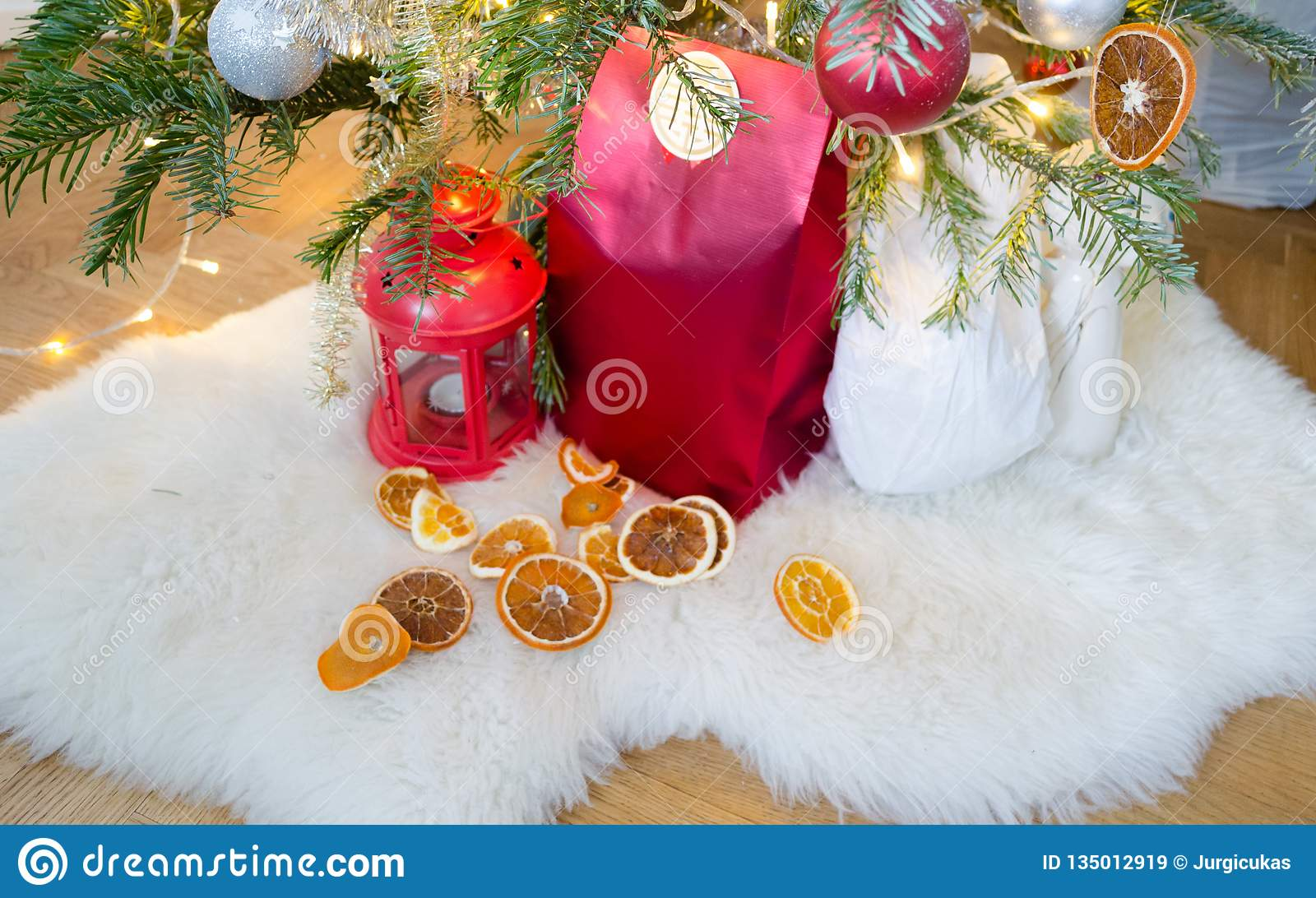 Christmas Decorations Under The Christmas Tree Stock Image ...