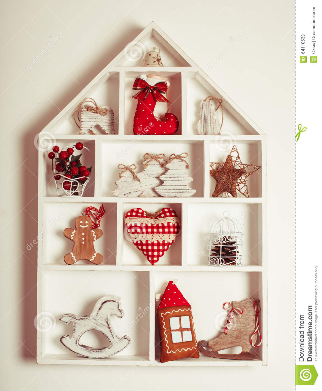 Christmas Decorations For The Wall Christmas Decorations On The Wall Stock Photo Image 64110539