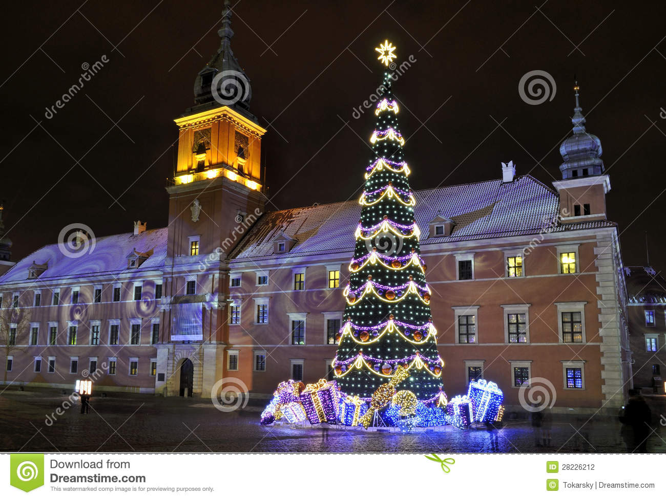 Christmas Decorations In Warsaw Stock Photography Image 28226212