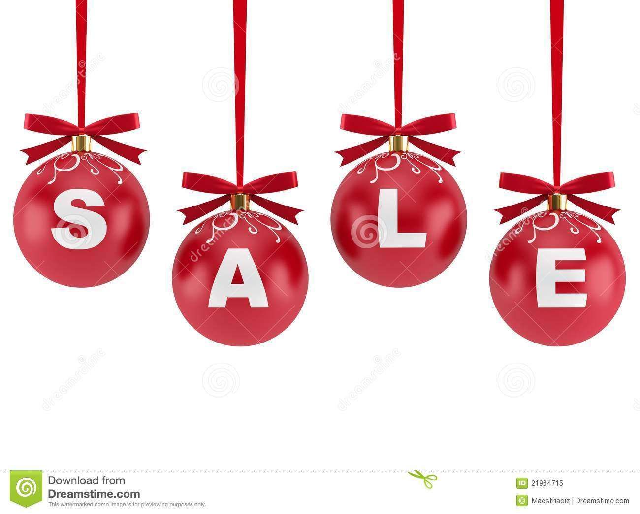 Christmas Decorations With The Word Sale Royalty Free Stock Photo ...