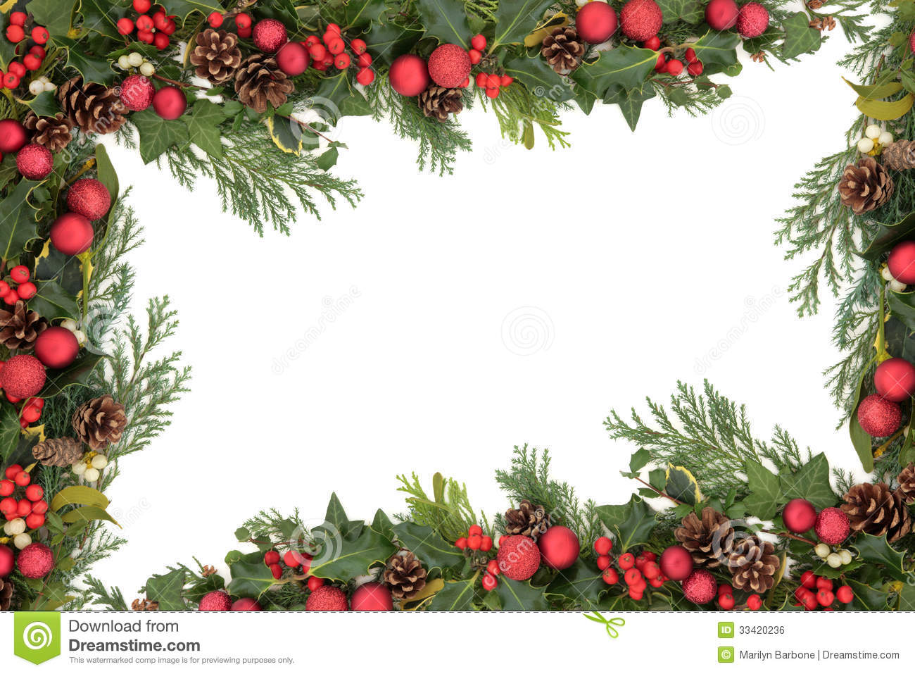 Christmas Decorative Border Royalty Free Stock Image