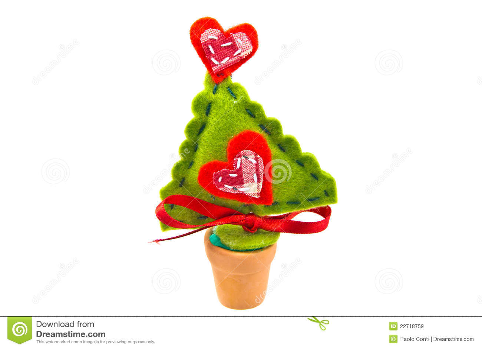 Christmas Decoupage Tree Isolated On White Stock Image - Image of ...