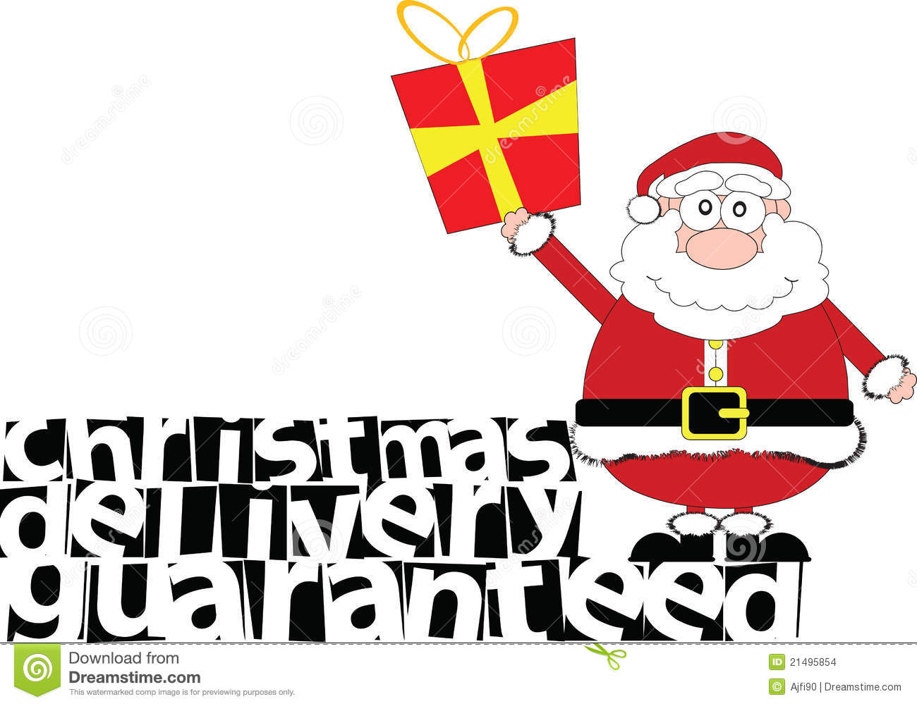 Christmas Delivery Guaranteed Stock Images - Image: 21495854