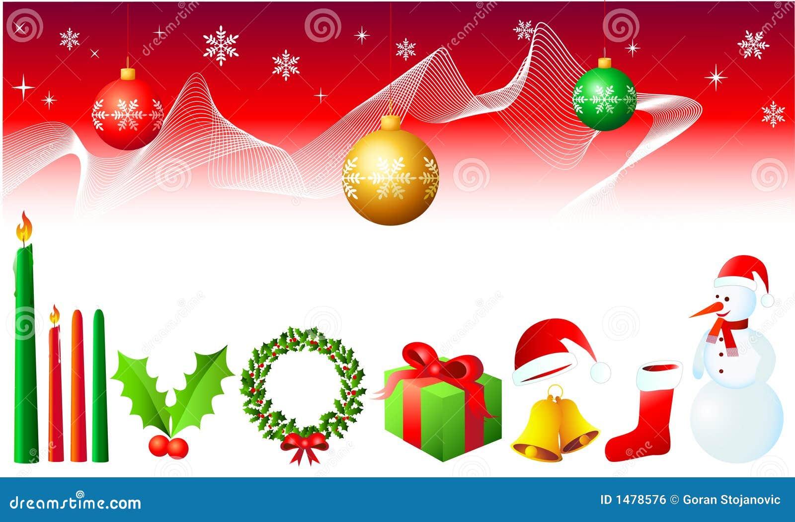 Christmas Design Elements Stock Vector Illustration Of Celebrate