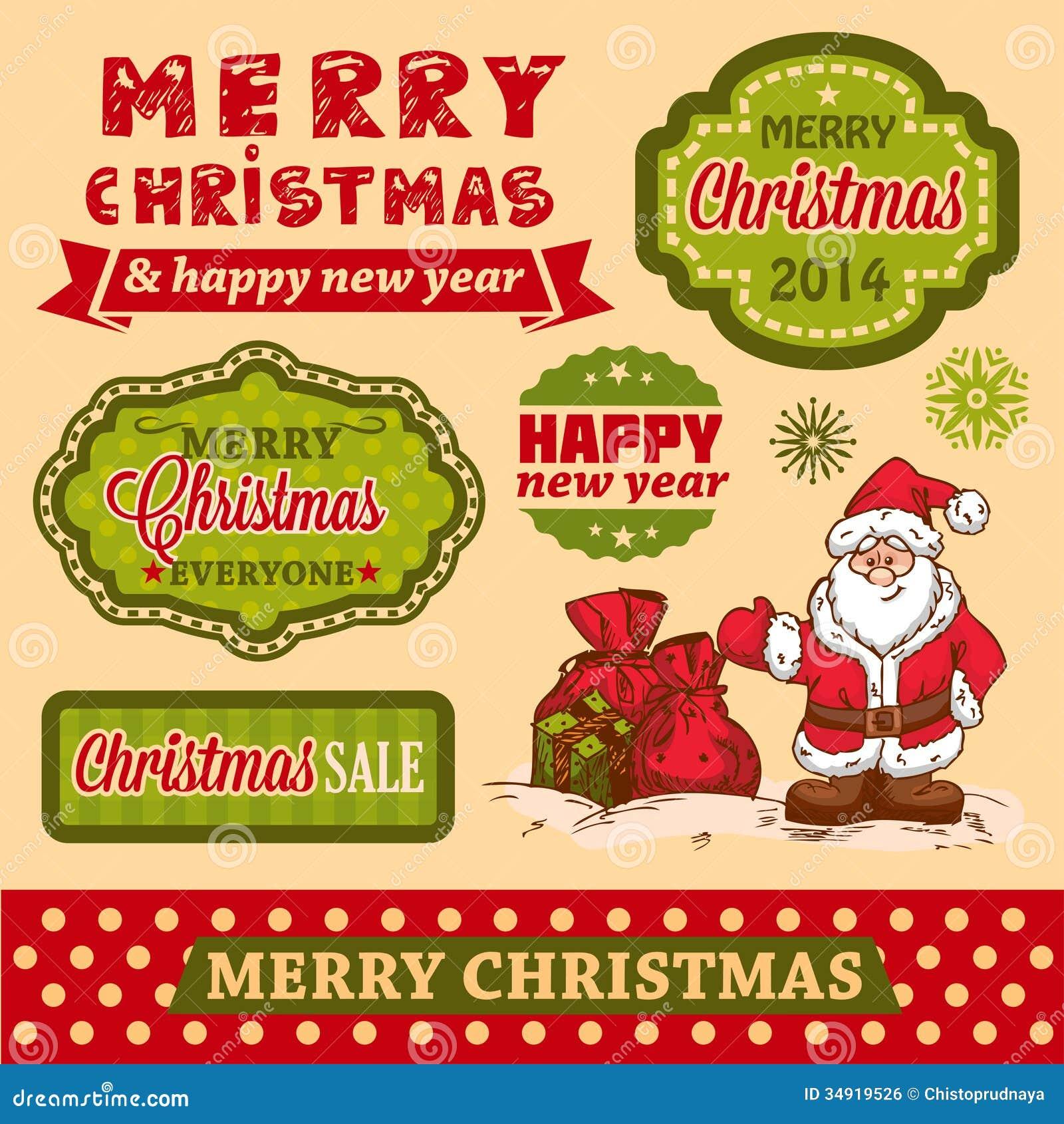 christmas design elements royalty free stock image - image: 34919526