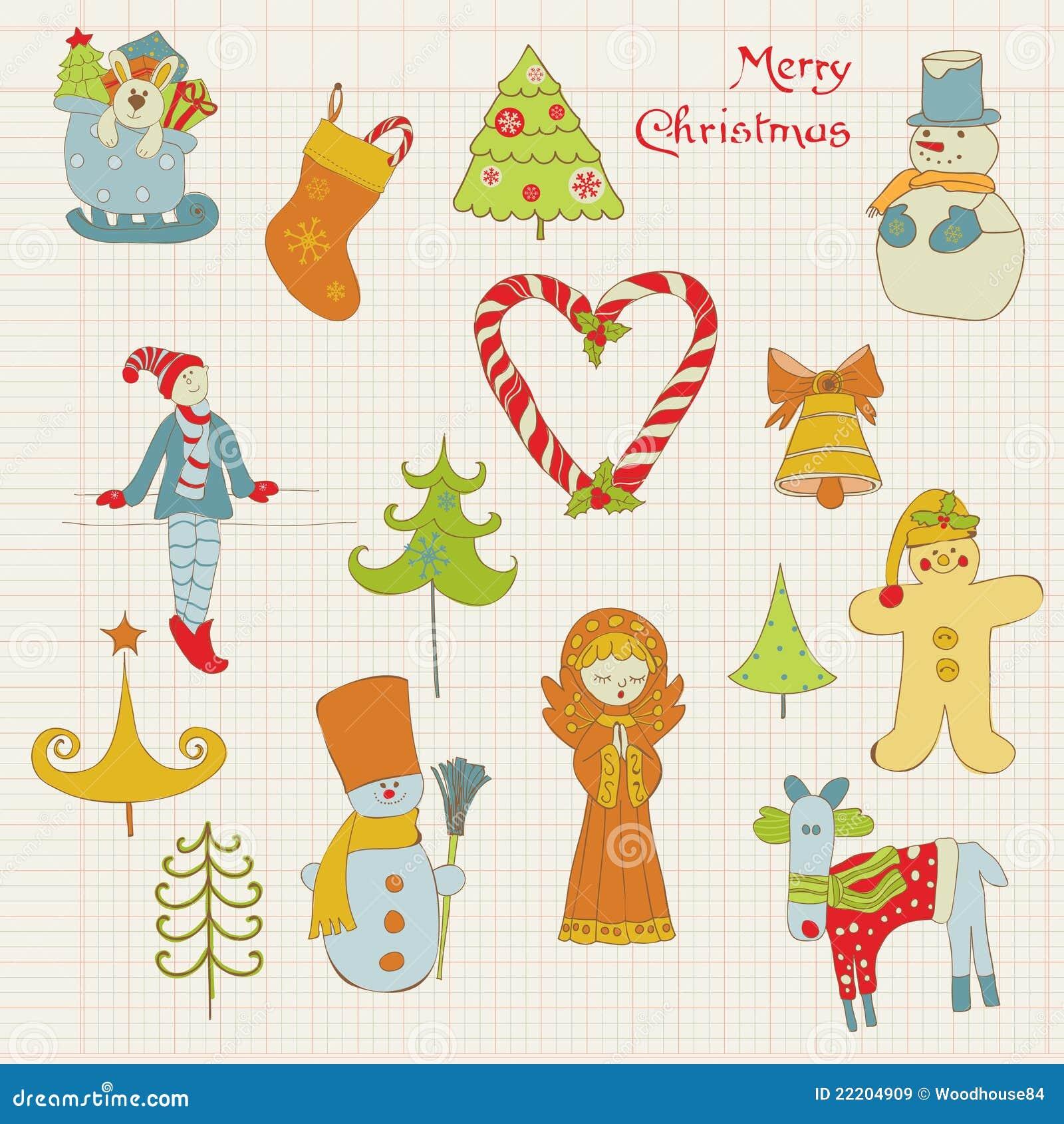Christmas Design Elements For Scrapbook Stock Vector