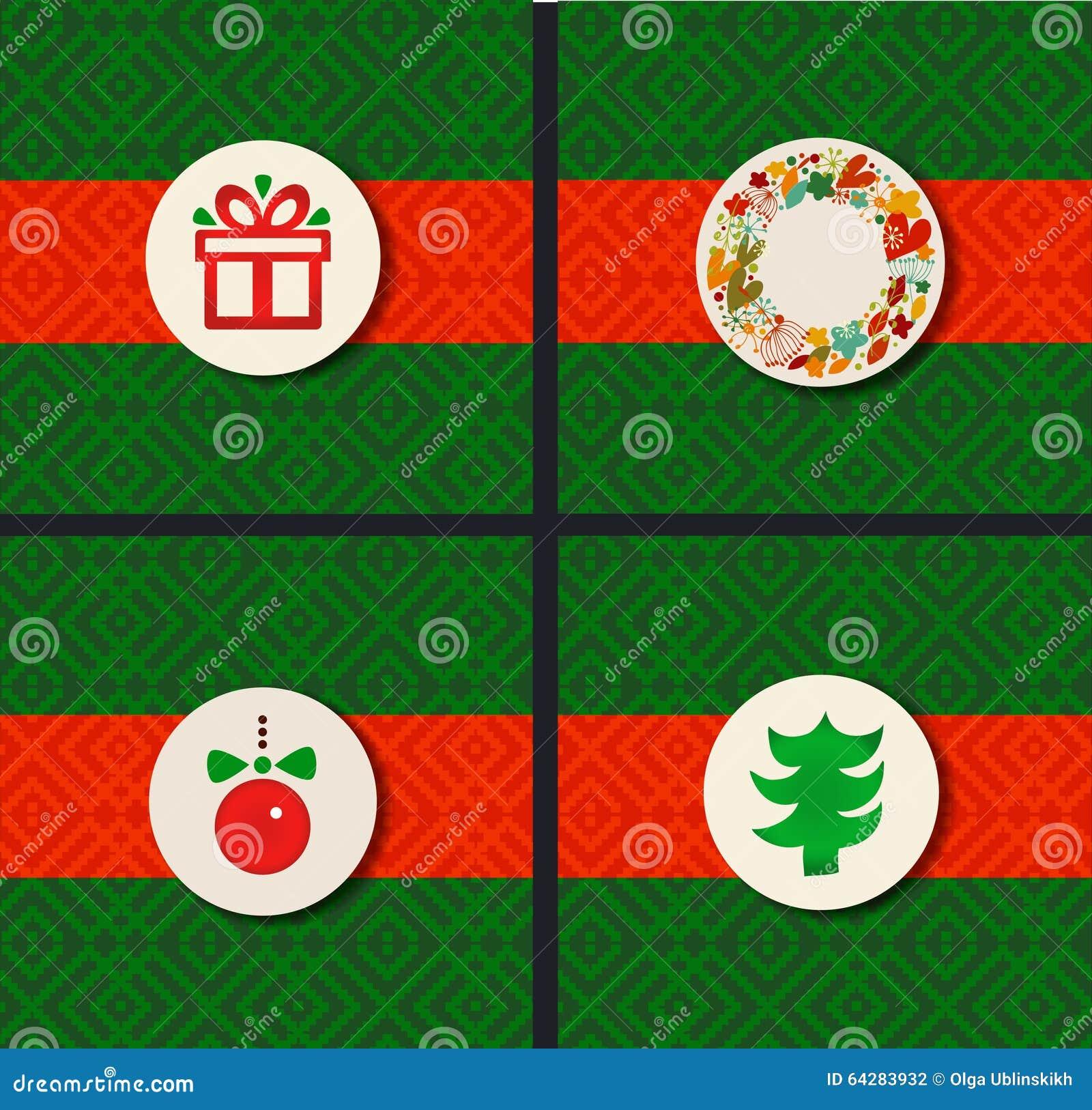 christmas design holiday borders set christmas symbol collection