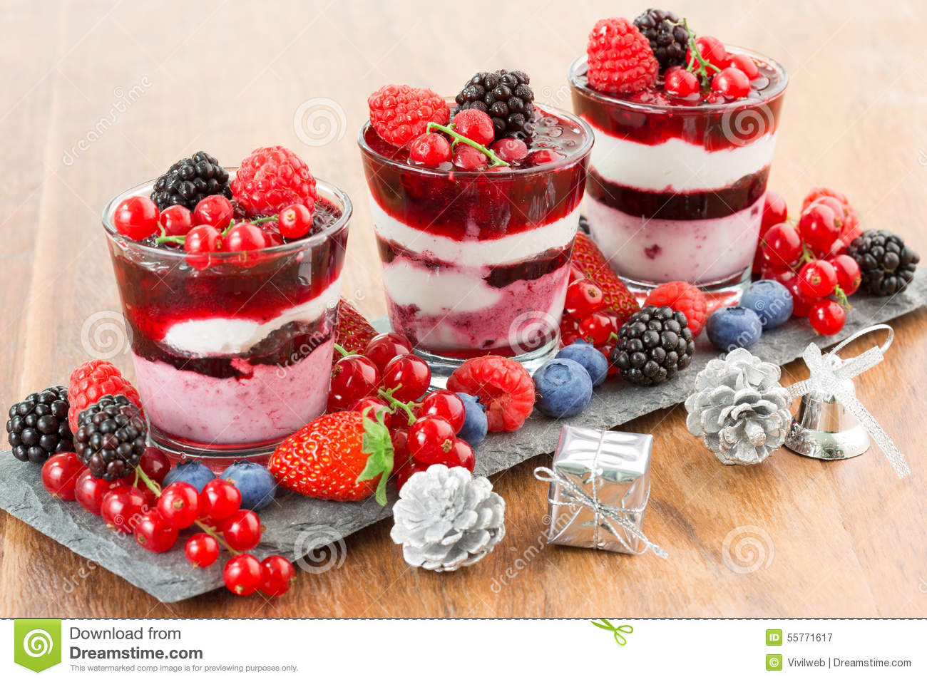 Christmas Dessert Stock Image Image Of Holiday Delicious