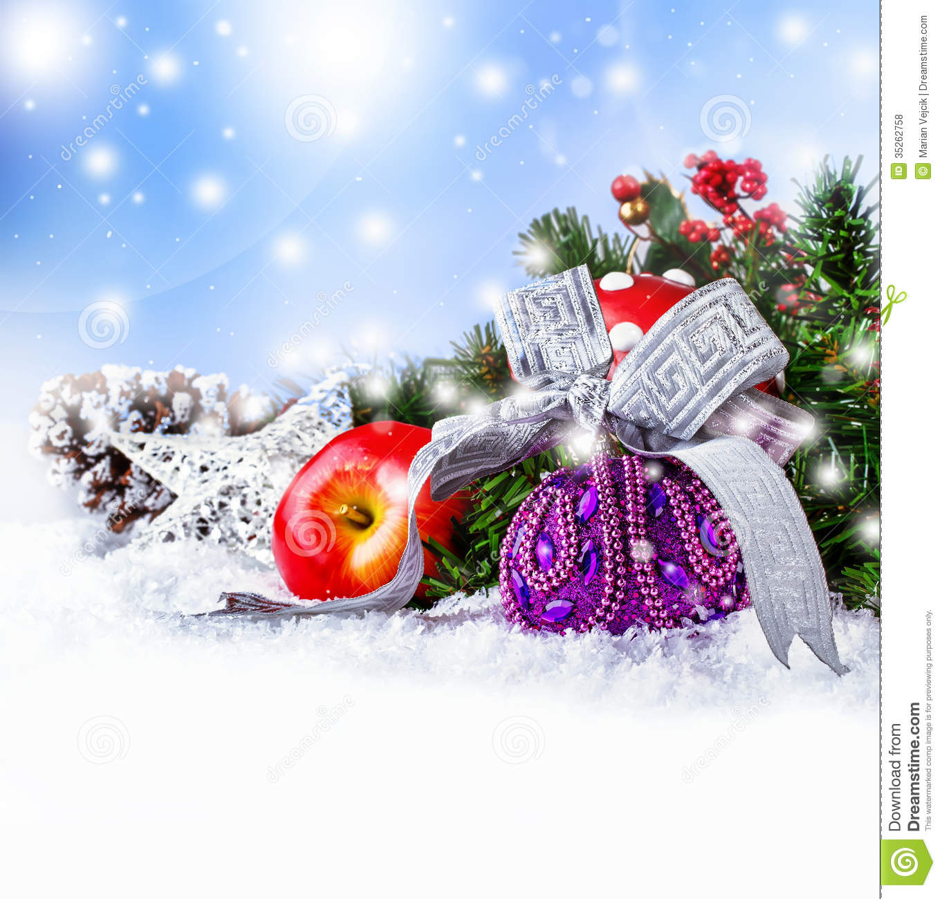 Christmas royalty free stock photos image 35262758 for Different xmas decorations