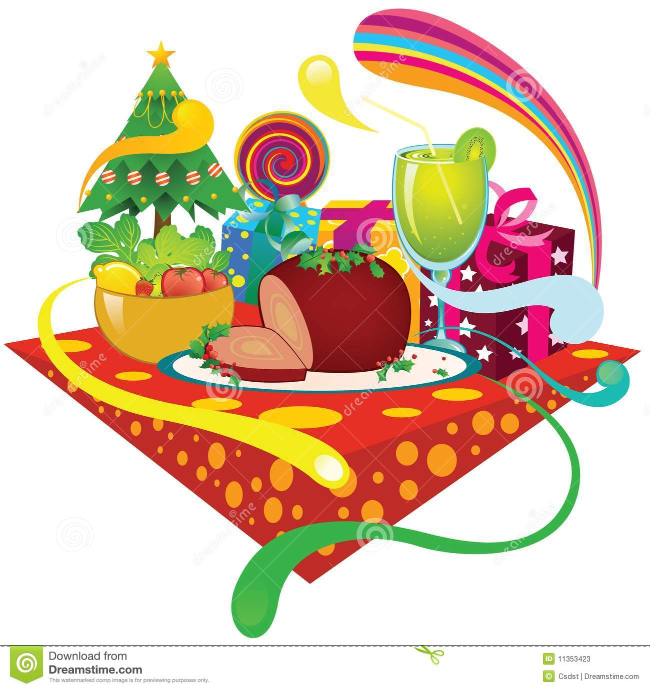 clipart christmas dinner pictures - photo #50
