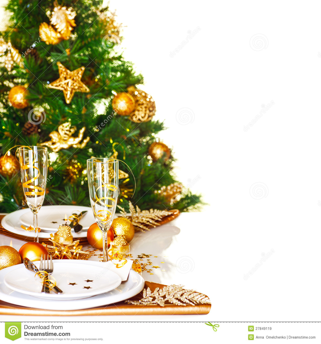 Free Christmas Dinner.Christmas Dinner Border Stock Image Image Of Decor