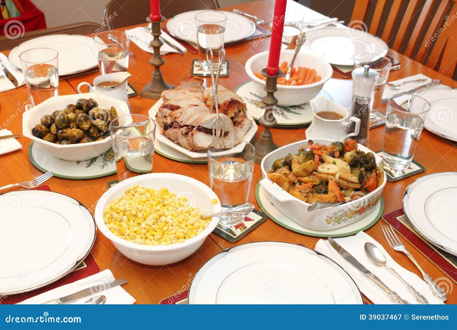 Christmas Dinner Stock Photo Image 39037467