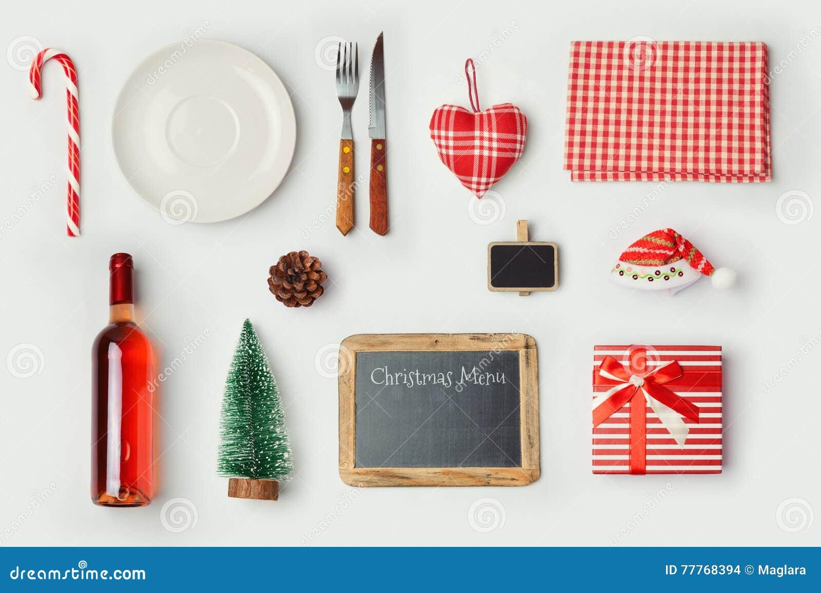 Royalty Free Stock Photo  Free Christmas Dinner Menu Template