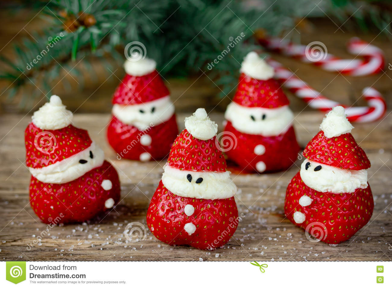 christmas dinner party ideas for kids strawberry santa recipe