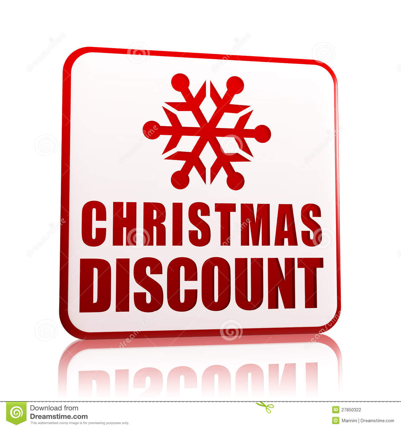 Christmas Discount, Banner With Snowflake Symbol Stock Illustration ...