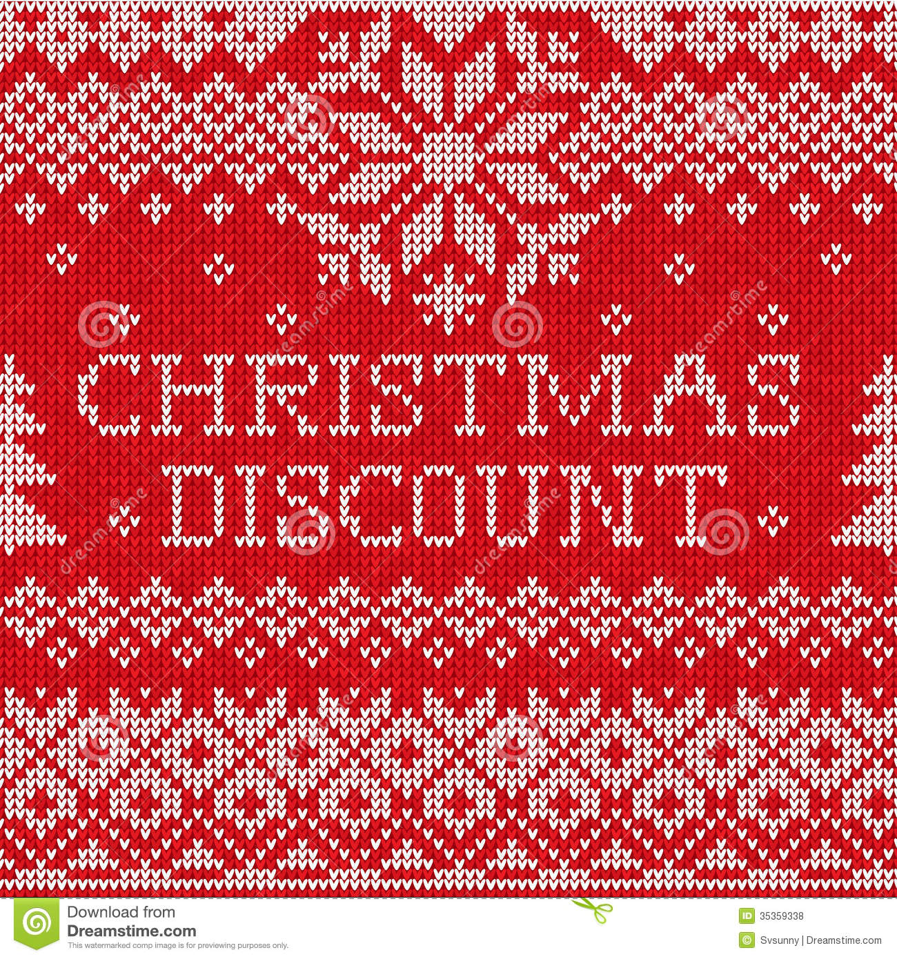 Knit Pattern Christmas Vector : Christmas Discount: Scandinavian Style Seamless Knitted Pattern Royalty Free ...