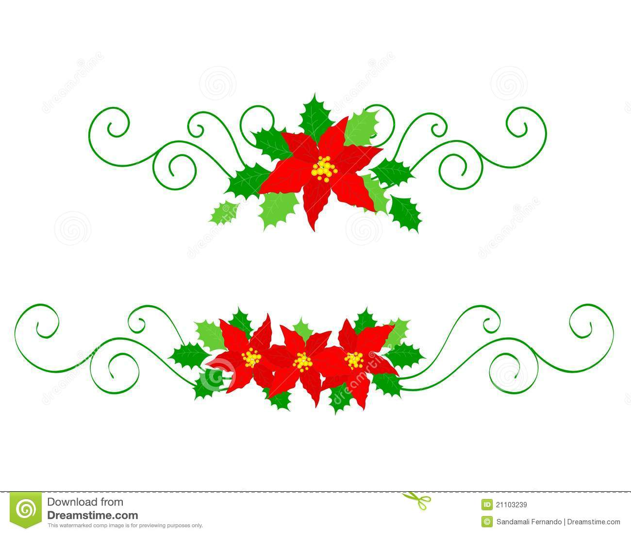 Christmas Dividers Poinsettia Royalty Free Stock Images - Image ...