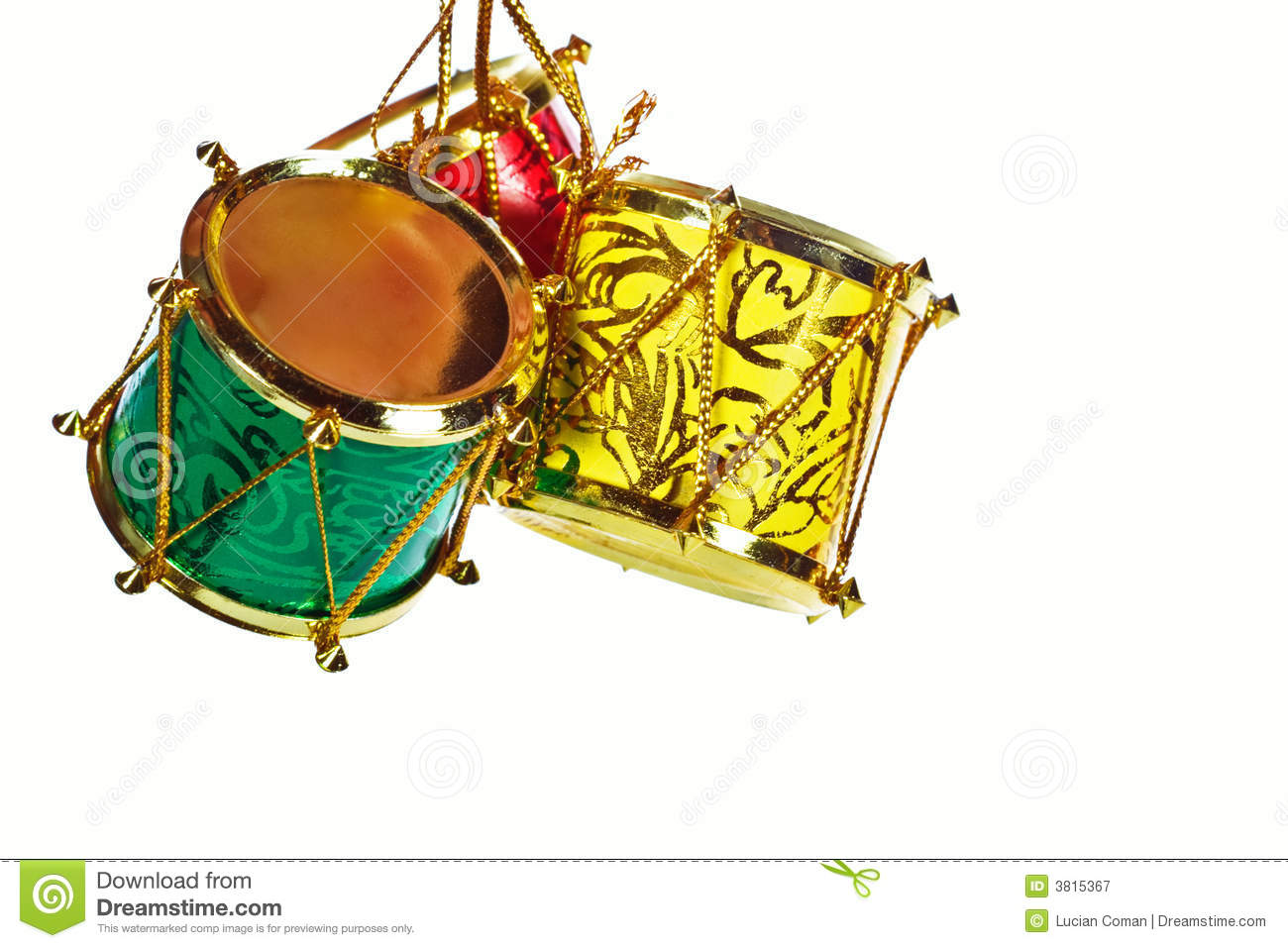 Christmas Drums Royalty Free Stock Photography Image