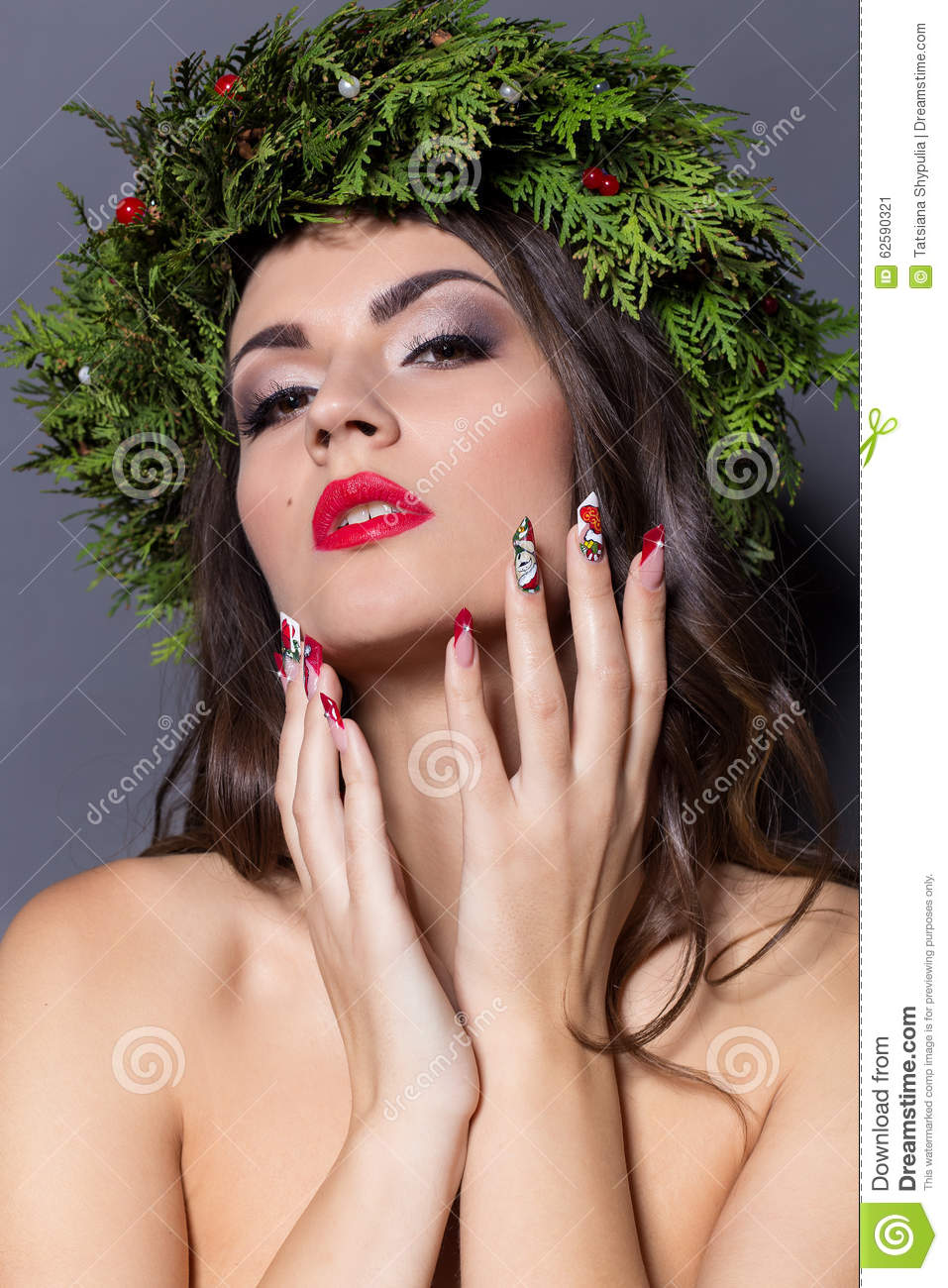 new year hair style new year hairstyle and makeup royalty free stock photo 6277