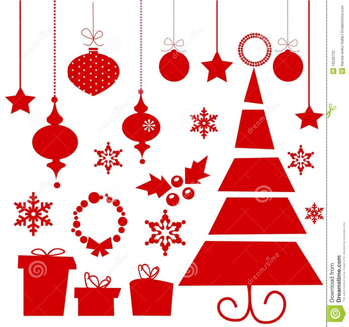 Christmas holiday dress - Christmas Elements Stock Photography Image 16526722