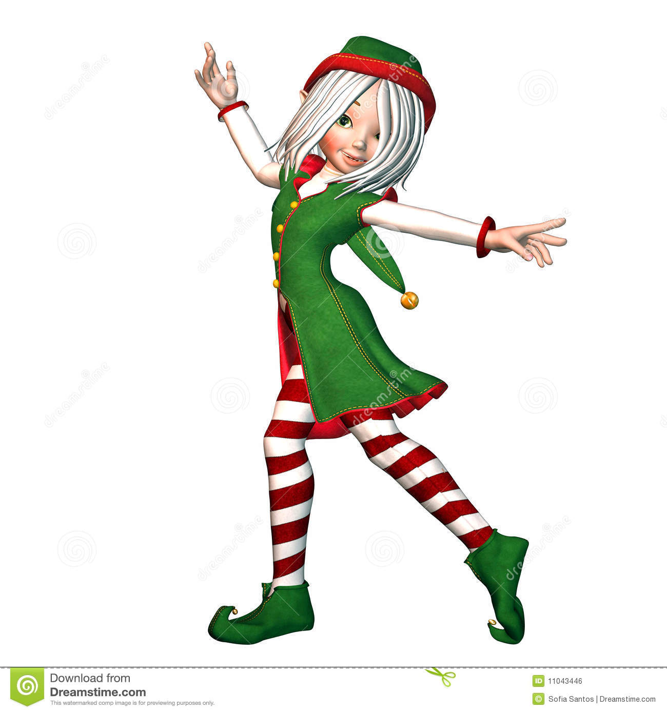 Christmas Elf Royalty Free Stock Image - Image: 11043446