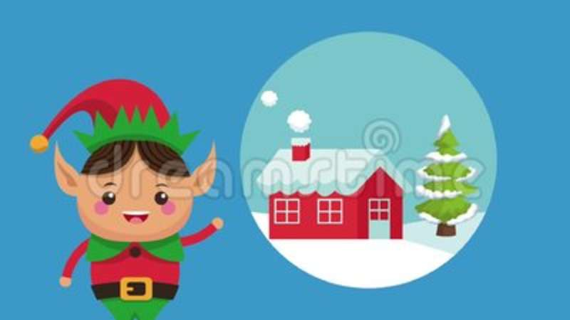 christmas elf cartoon hd animation stock video video of decoration holiday 125434605 - Animated Christmas Elves Decorations