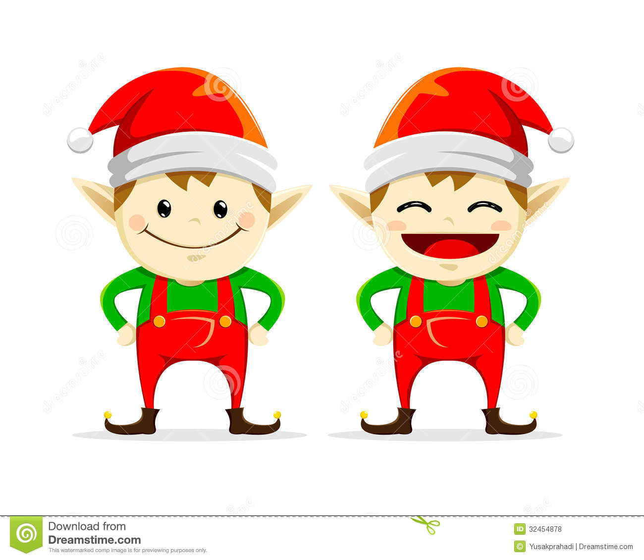 Christmas Elf twin stock vector. Illustration of cartoon - 32454878