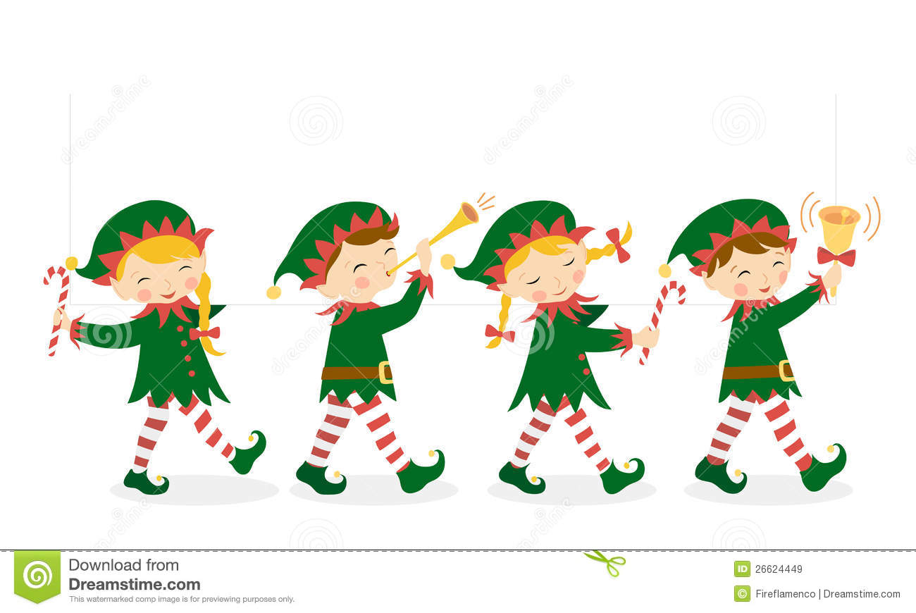 Elf Carrying Christmas Gifts Stock Illustration - Illustration of ...