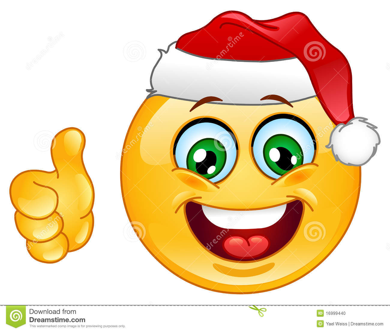 Christmas Emoticon Stock Photo - Image: 16999440