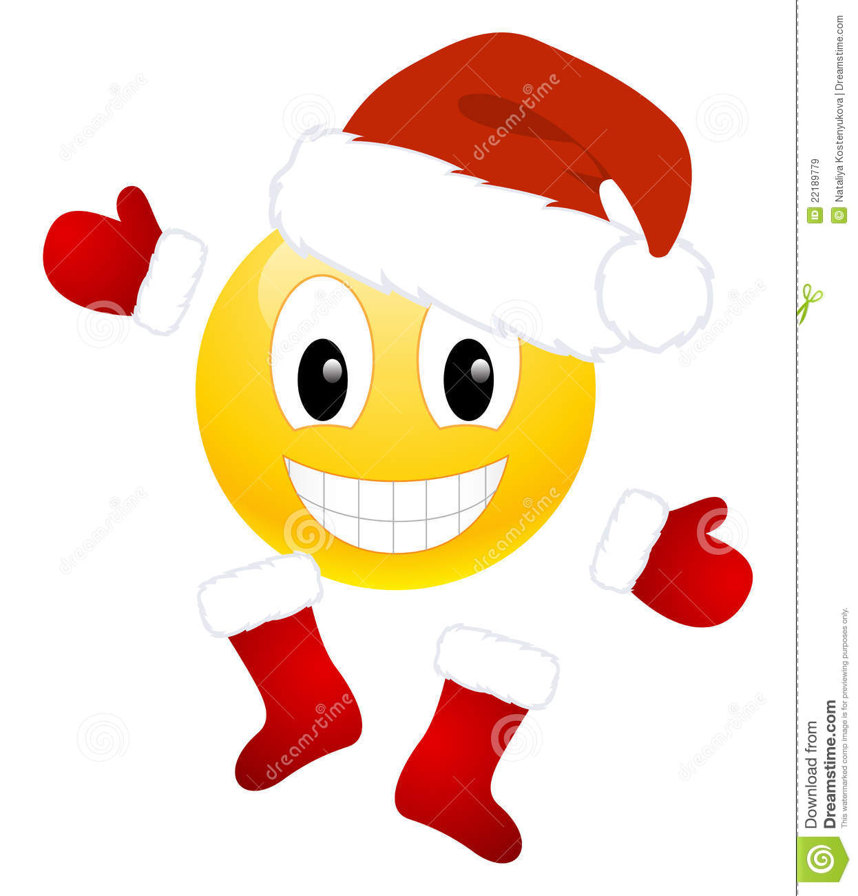 Christmas Emoticon Royalty Free Stock Images - Image: 22189779