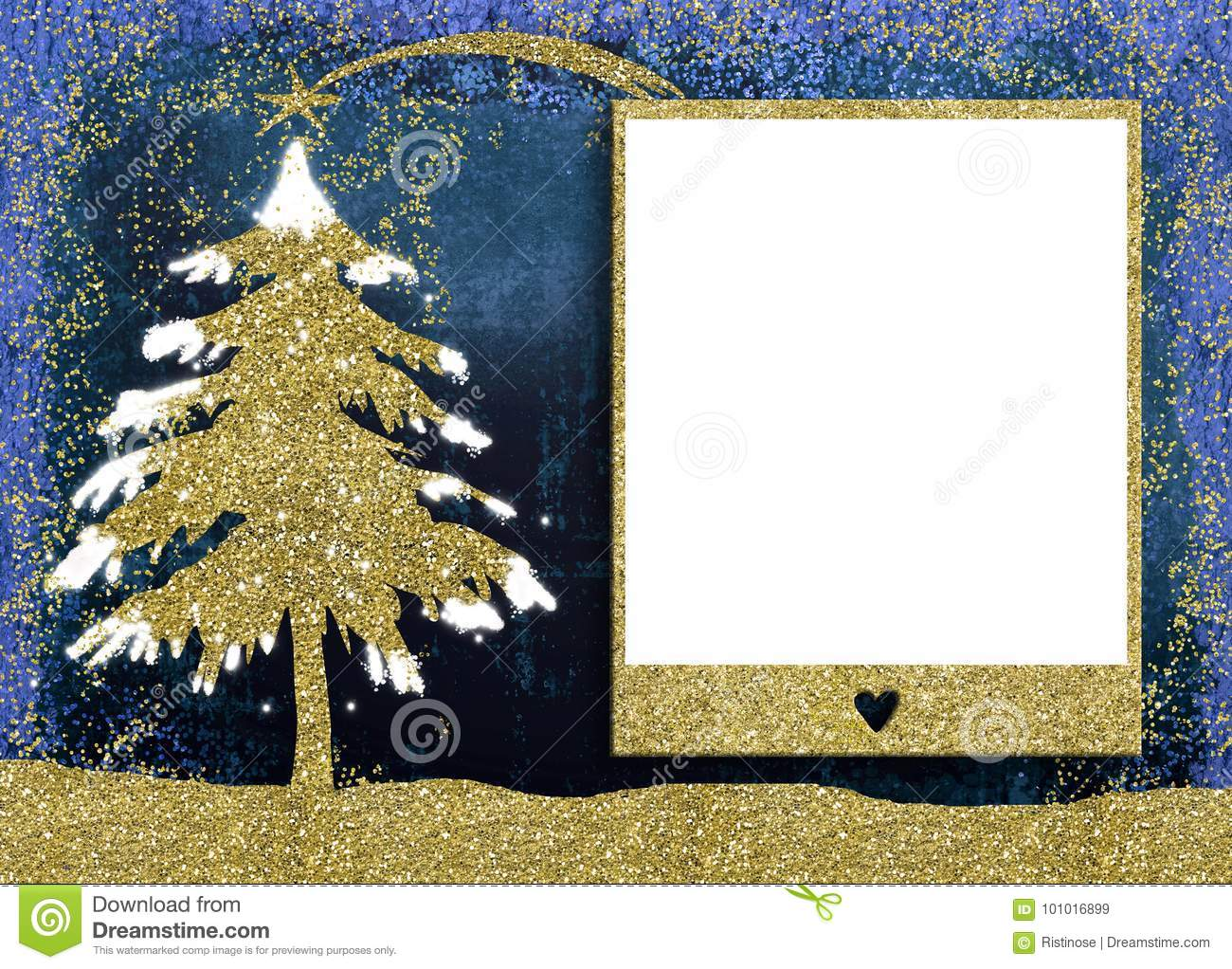Christmas Picture Frame Cards. Stock Image - Image of invitations ...