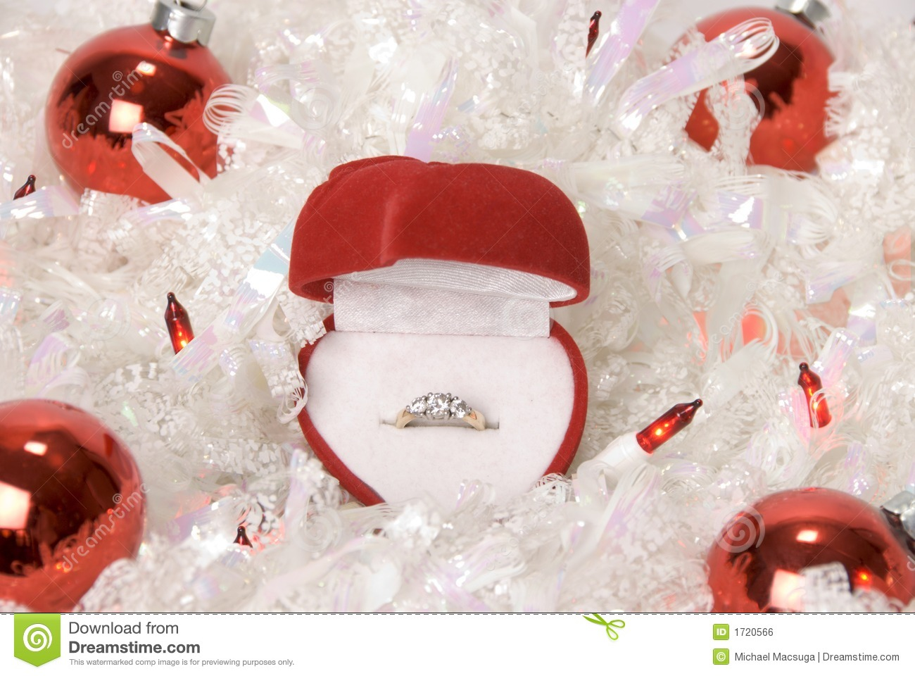 Engagement ring christmas ornament - Christmas Engagement Ring