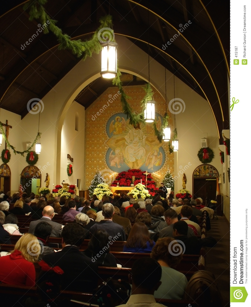 Christmas eve mass royalty free stock photography image 415187