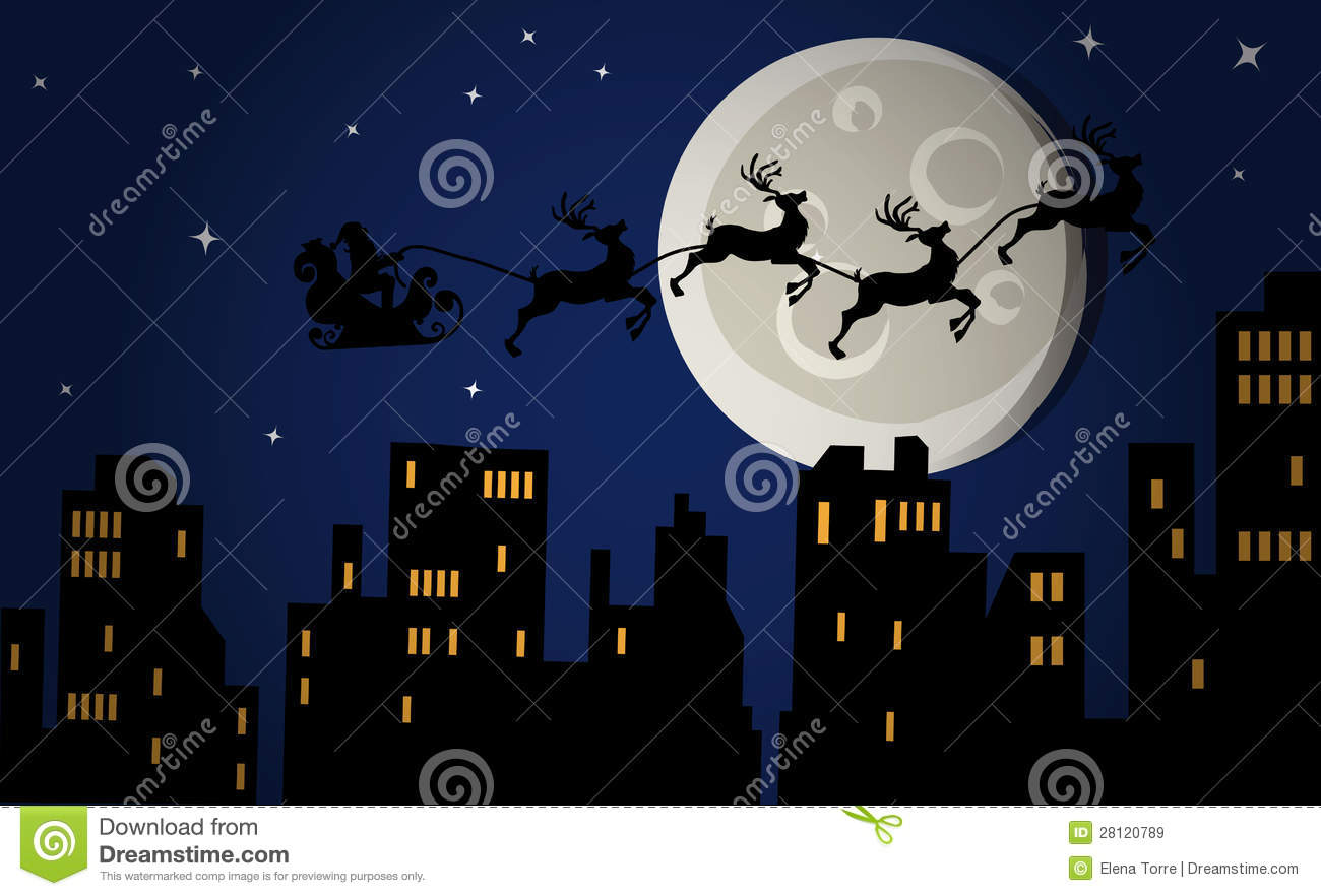 Christmas Eve Night Royalty Free Stock Images Image
