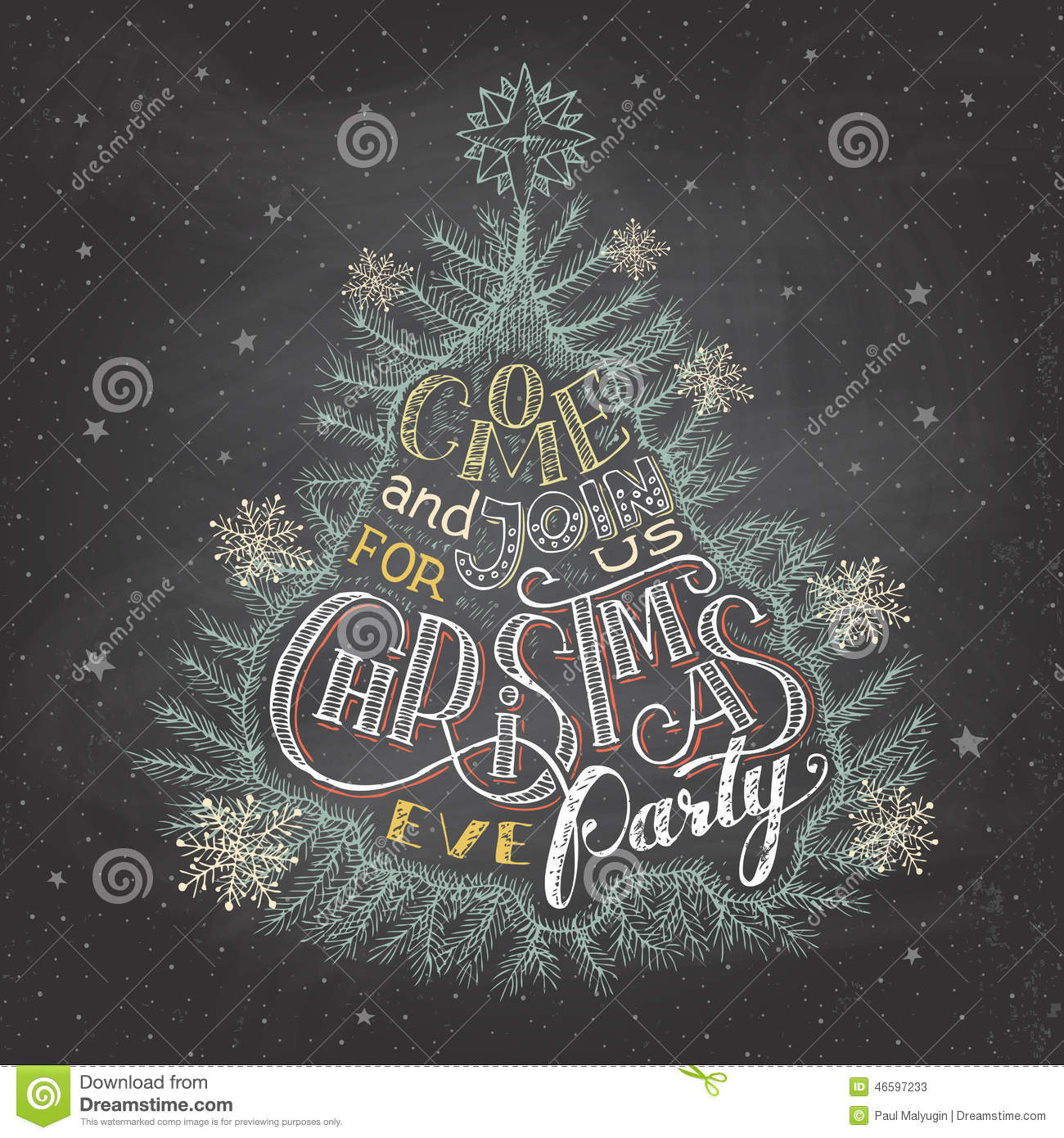 christmas eve party invitation stock vector image  christmas eve party invitation chalkboard stock photos