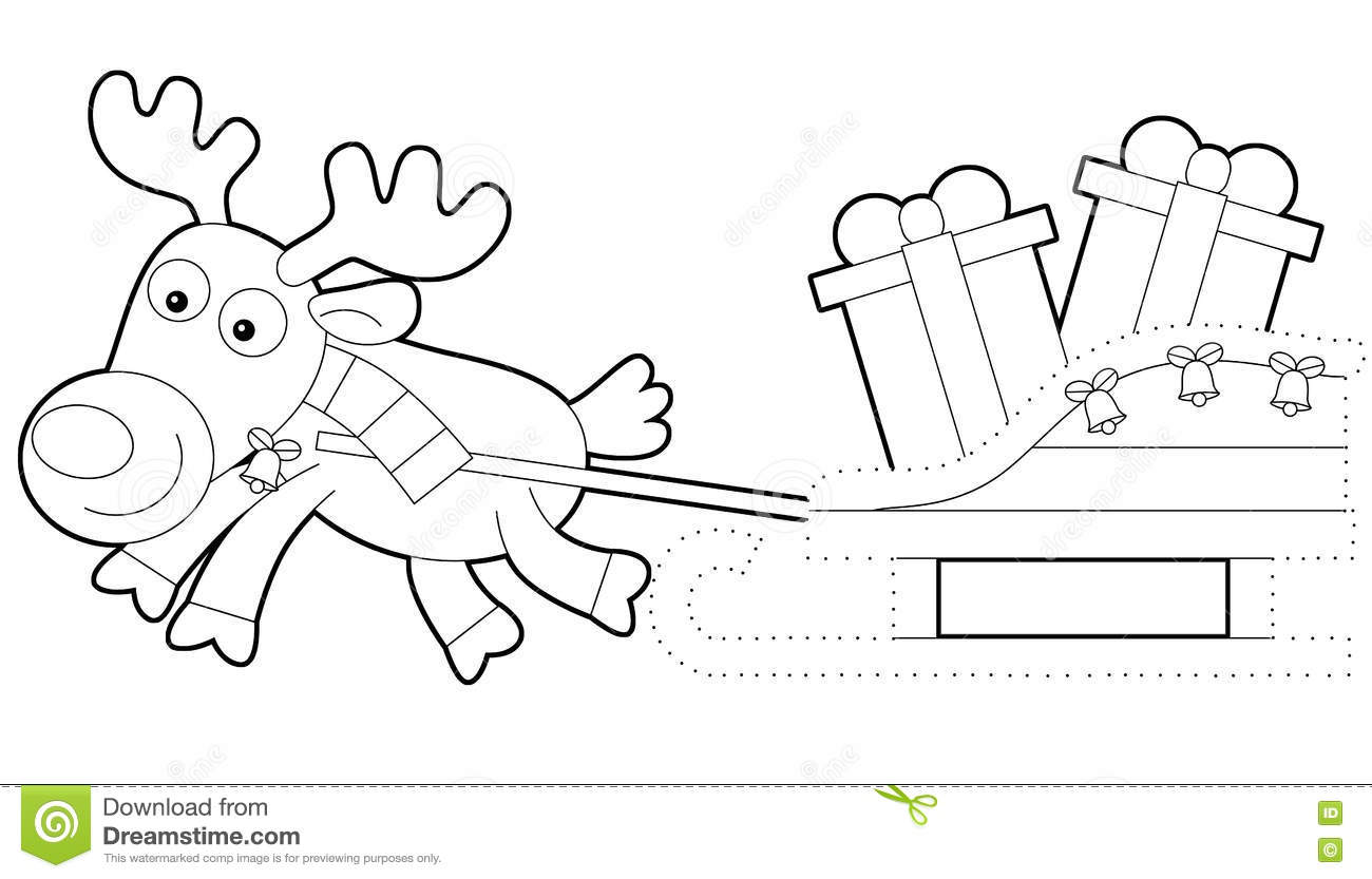 Coloring Page Stock Illustration