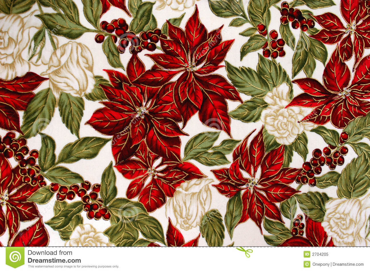 Christmas Fabric Royalty Free Stock Photo Image 2704205