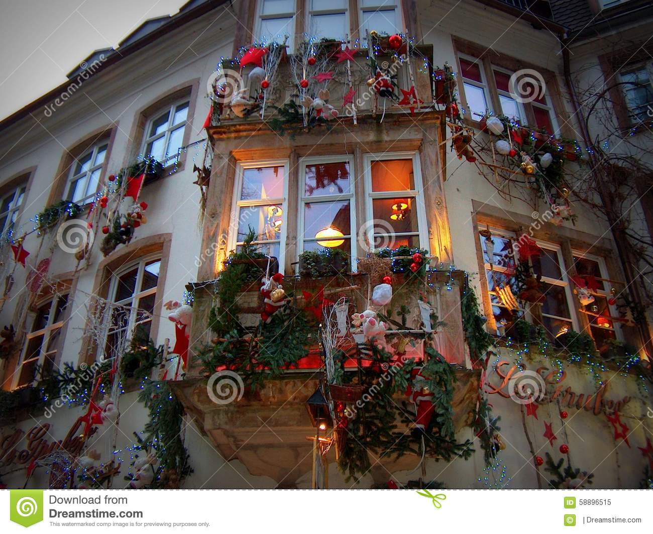 christmas facade strasbourg stock image image of strasbourg advent 58896515. Black Bedroom Furniture Sets. Home Design Ideas