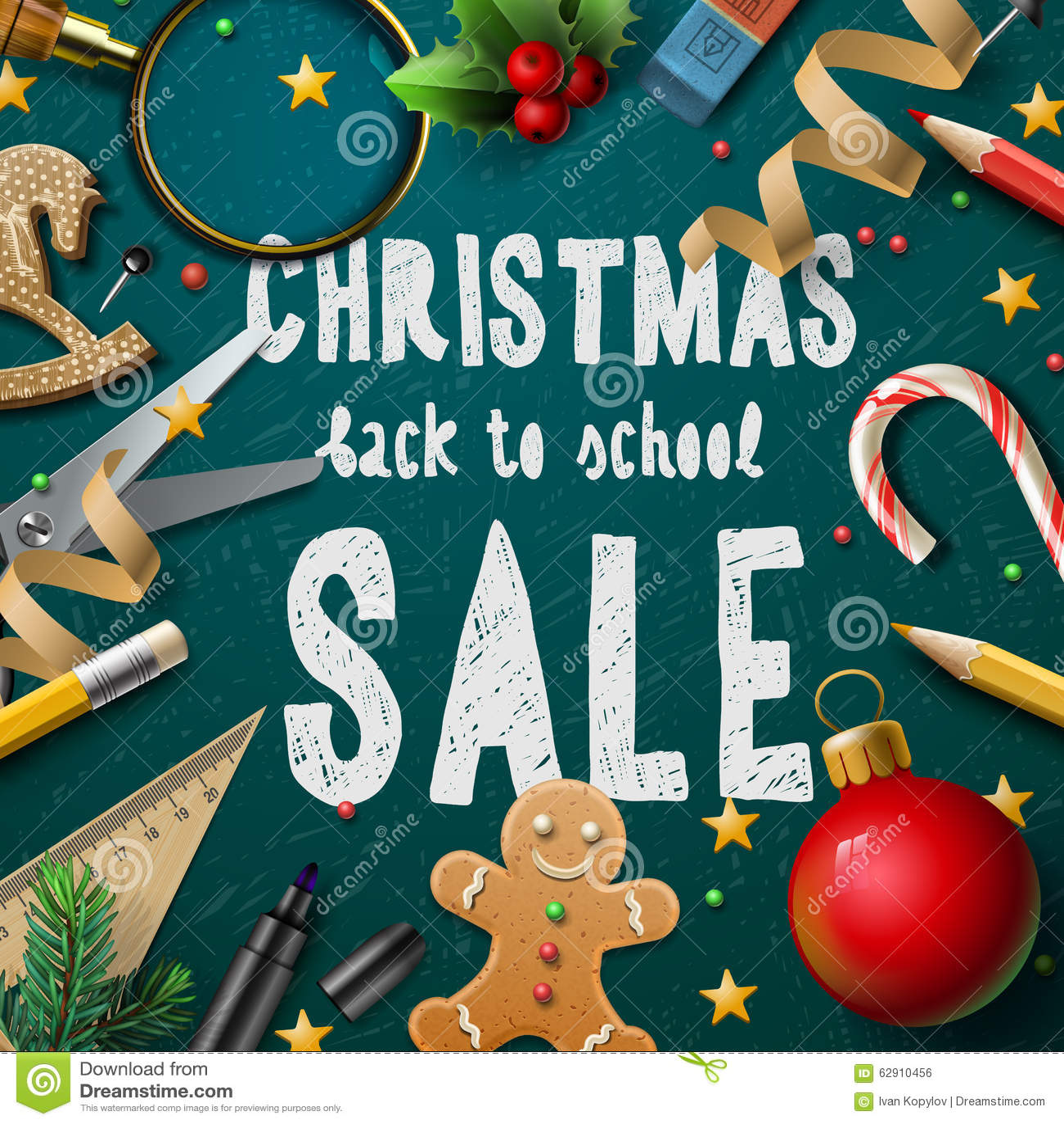 christmas fair poster stock photo