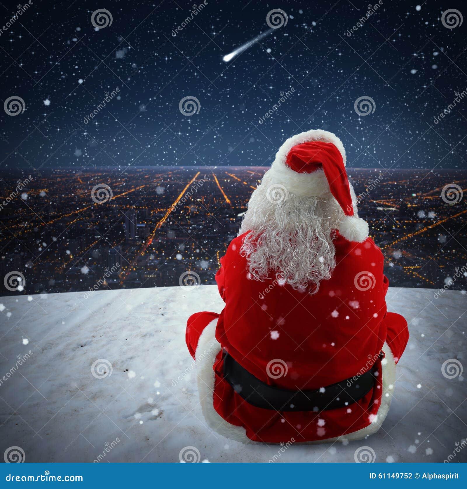 Christmas falling star stock photo image