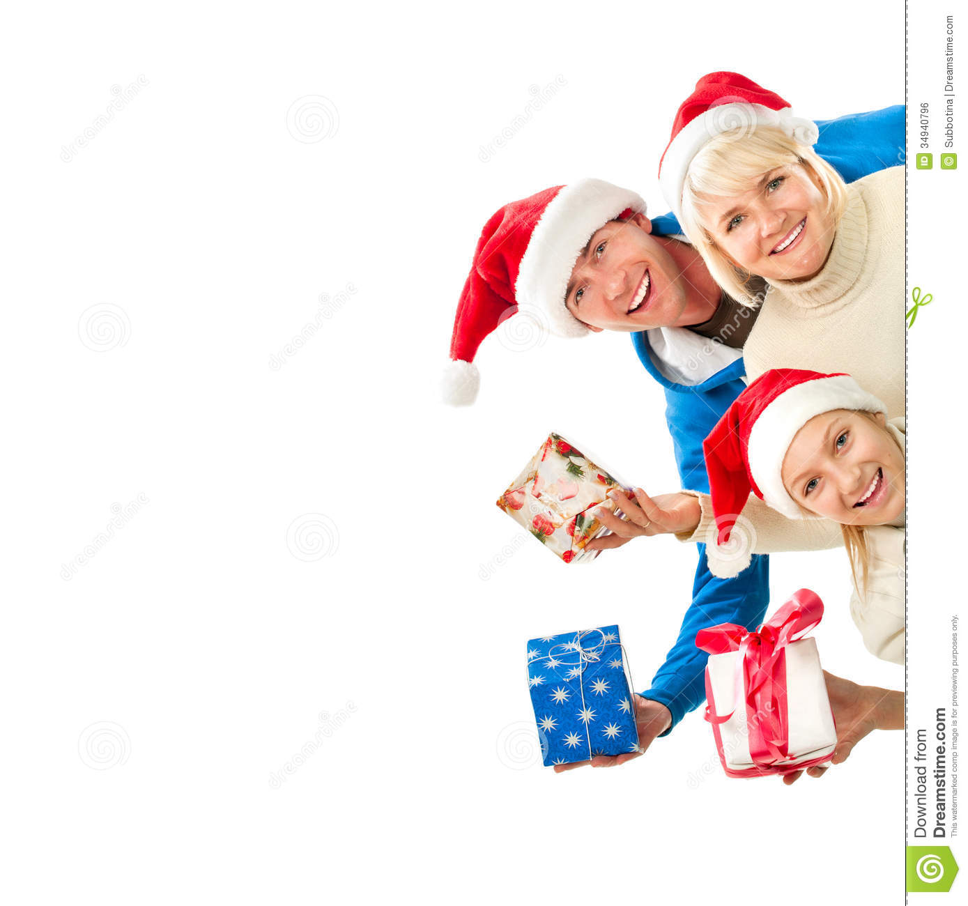 Christmas Family Photo Christmas Family With Gifts Royalty Free Stock Image Image 34940796